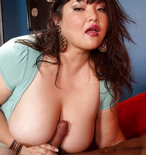 Fervent bbw Kelly Shibari gets cum all over her huge tits and lovely face