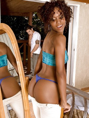 Slim ebony girl Envy Kenya getting her shapely black booty banged hard core