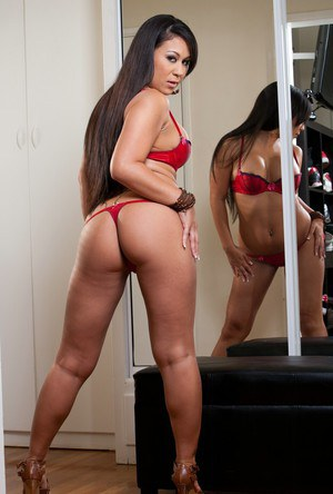 Asian shortie Kayme Kai getting rid of her tiny red undies