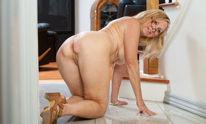 Wrinkled yet sexy and flexy granny Annabelle Brady stripping