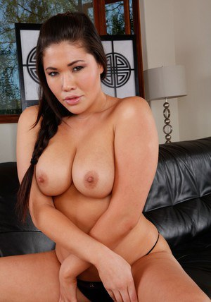 Asian wife london Keyes denudes plump tits and spreads hot pussy