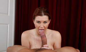 Busty housewife Sara Stone gets her fat hooters jizzed after hot sex