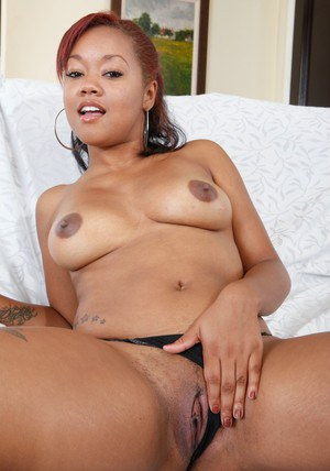 Sexy black wife Melody Nakai spreading her brown pussy and ass