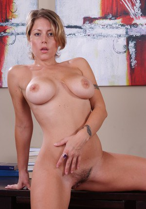 Alluring wife Velicity Von denudes MILF hooters and hairy twat