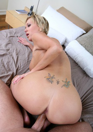 Busty blond wife Carly Parker revealing huge boobs for a hot fuck