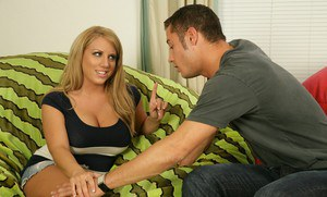 Tanned teen with puffy boobs Heather Summers fucked and jizzed