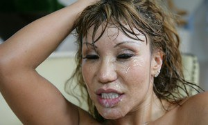 Mature asian Ava Devine gets her tempting pussy fucked hard