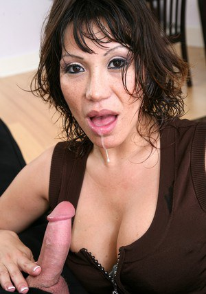 Tempting asian wife Ava Devine fucking in stockings and underwear
