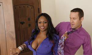BBW ebony wife Jada Fire shafted with thick cock and jizzed massively