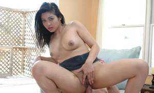 Asian girl Mika Tan revealing big hooters and getting fucked