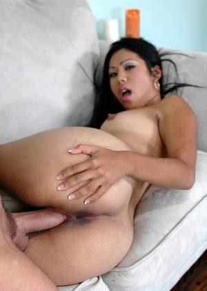 Sexy asian cocksucker Kyanna Lee got her cunt stuffed with a huge dick