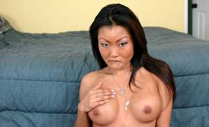Busty asian hottie Lucy Lee got her delicious pussy fucked properly