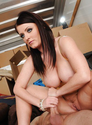 Beautiful MILF in latex Sophie Dee bent over and hardcore ass fucked