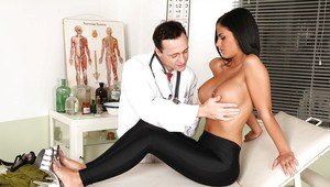 Angelika Black got her boobs examined and her pussy fucked by doctor