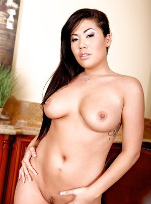 Amazing Asian wife London Keyes takes off her panties to reveal pussy
