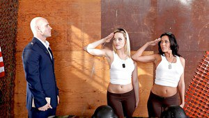 Military babes in uniform Rachel Starr amp Alexis Texas sharing a cock