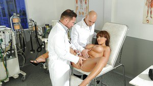 Busty babe Valery Summers with a shaved cunt has her ass fucked hard