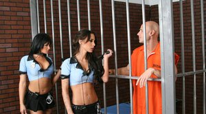 Tory Lane and Mya Nichole get one on one with a jailbirds cock