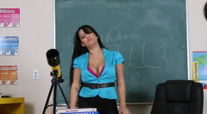 Big titted MILF teacher Mason Storm gets her cunt drilled hard