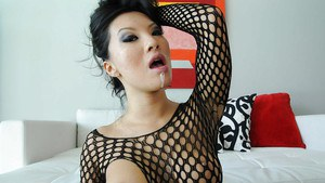 Asian babe with big boobs Asa Akira is into hardcore buttfuck