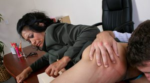 Slutty Asian MILF Mika Tan has a hard dick in her tiny bottom hole