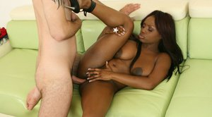 Ebony MILF with big hooters Jada Fire has her ass ready for fucking
