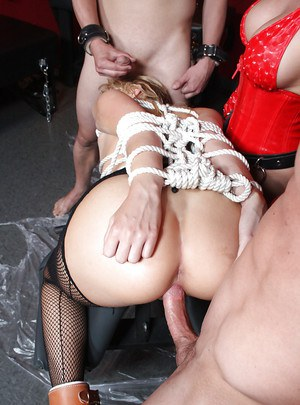 Hot babe Mallory Rae getting humiliated and fucked with bukkake