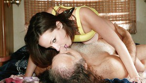 Teen Jada Stevens with a tight ass has hardcore sex with an oldman