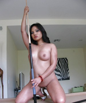 Asian babe on high heels Lana Violet demonstrating her body outdoor