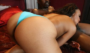 Black babe with a hot booty Milian Blu fucking in her cunt
