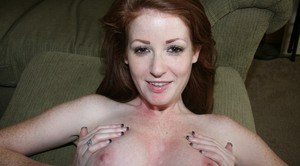 Big titted amateur girlfriend Nikki Rhodes getting fingered and fucked