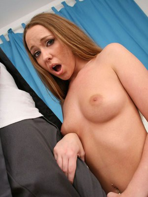 Teen babe with huge hooters Leighlani Red getting a monster cock