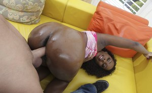 African hottie Ms Platinum giving a blowjob before hardcore fucking