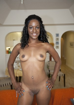 Beauteous black MILF with small tits Chelsea White posing naked