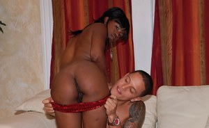 Ebony ass of Char Lustt is bouncing on dick during hardcore fucking