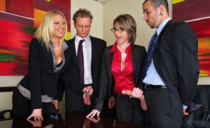 Two horny MILF are into hardcore ass fucking in the office