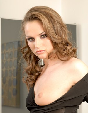 Sweet babe Tori Black stripping and spreding her legs in the office