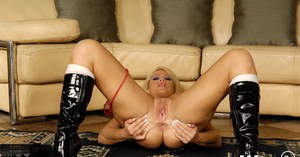 MILF babe with big tits Brooke Haven shows off her wet shaft