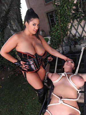 Tied outdoor Milf up