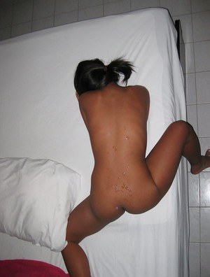 Stunning asian babe with nice ass gets her tight pussy shagged hardcore