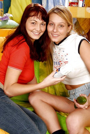 lesbians toying with each others as