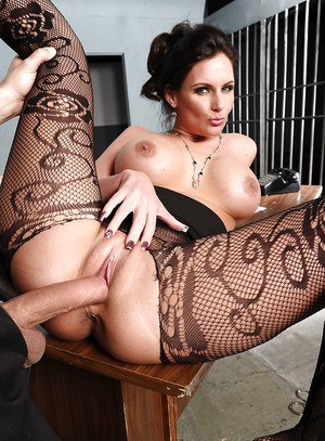 Slutty wife in pantyhose Phoenix Marie gets a huge cock for her cunt