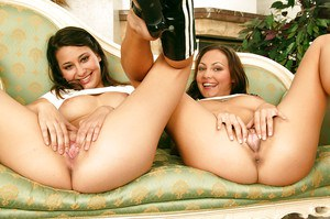 Teen lesbian babes with big tits licking pussy and toying each other