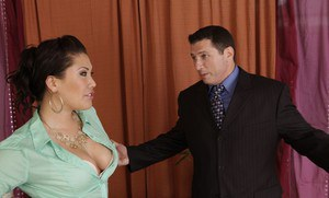 Asian MILF babe London Keyes getting hardcore fucked in the office