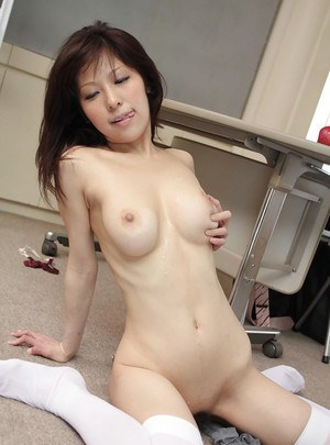 Sweet asian babe Harumi Asano gives a blowjob and gets fucked