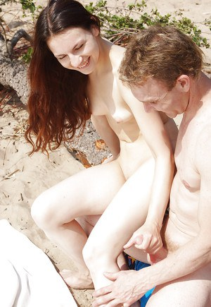 Lovely teen babe gets her pussy licked and fucked hardcore outdoor