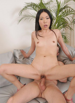 Lascivious asian babe likes to take a hard cock into her tight asshole