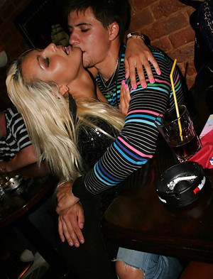 Seductive blonde babes get picked up and go naughty with a lucky guy