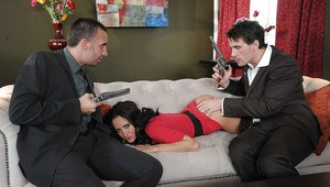 Big busted brunette MILF Ava Addams gets double penetrated