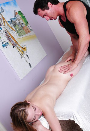 Slim babe with petite ass Tera Dice gets banged after massage